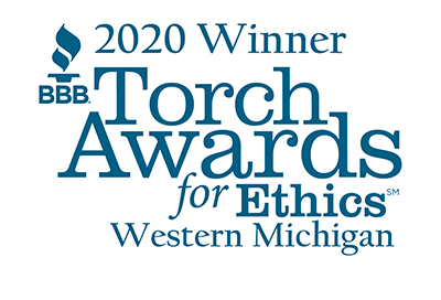 2020 Torch winner Graphic Blue